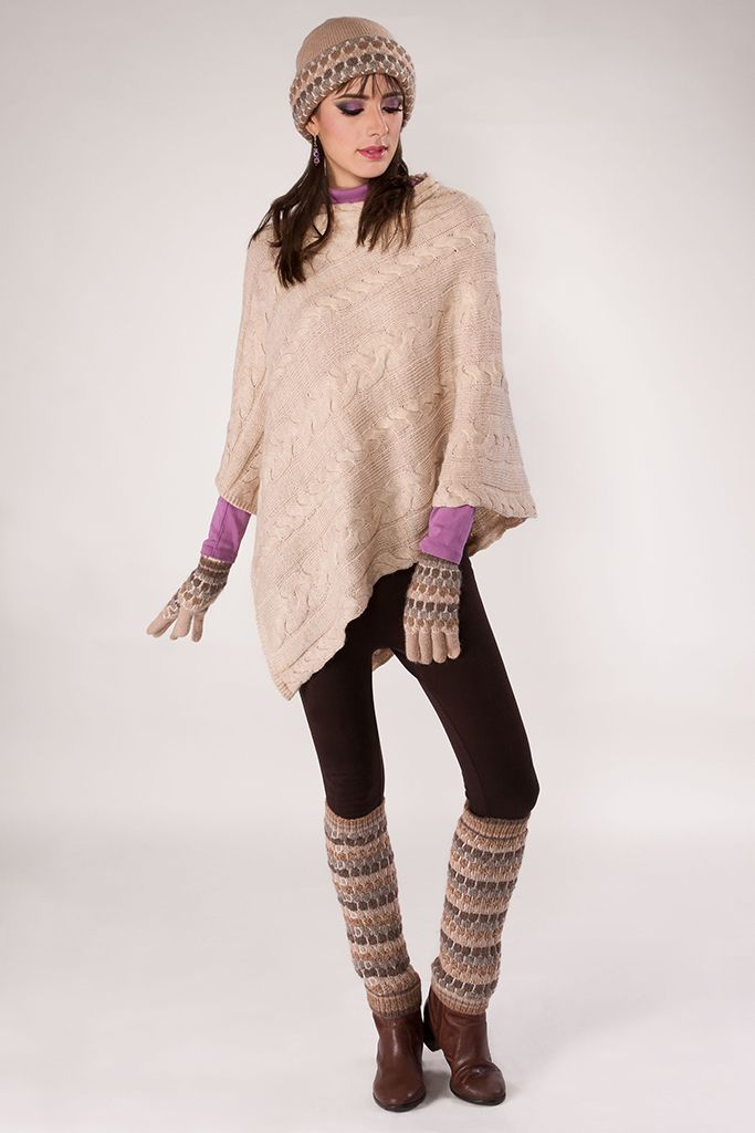 015 Big Cable (Poncho) Beige